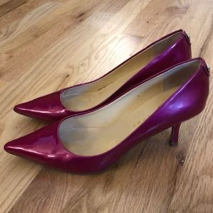 Ivanka Trump Hot Pink Patent pointed Heels SZ 8.5